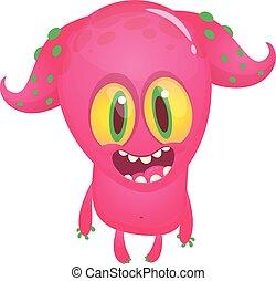 Cartoon monster. Vector illustration isolated