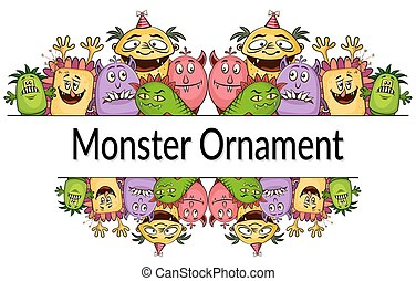 Cartoon Monsters Ornament