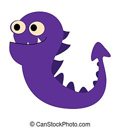 Cartoon monsters set. Colorful toy cute monster. Vector EPS 10
