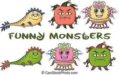 Cartoon Monsters Set