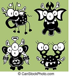 Cartoon monsters - The collection of cartoon monsters,...
