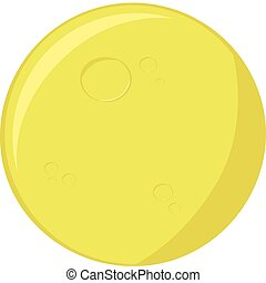 Cartoon moon - Cartoon illustration of a round full moon