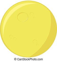 Cartoon moon - Cartoon illustration of a round full moon