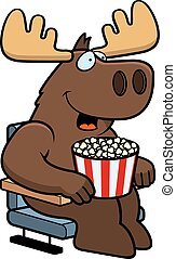 Cartoon Moose Movies - A cartoon illustration of a moose at ...