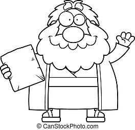 Cartoon Moses Waving