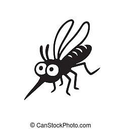 Cartoon mosquito drawing