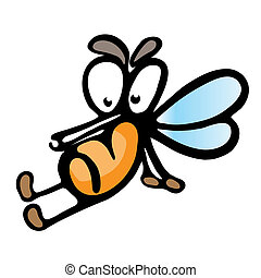 Cartoon mosquito. Illustration on white background for...