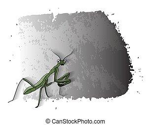 Cartoon Mosquitoes Grunge Banner