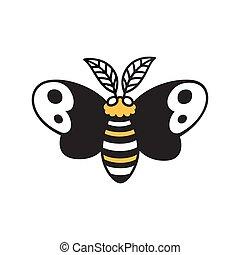 Cartoon moth drawing