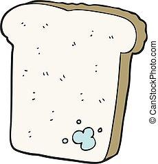 cartoon mouldy bread - freehand drawn cartoon mouldy bread