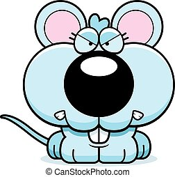 Cartoon Mouse Angry