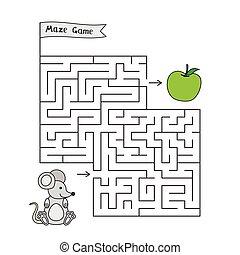 Cartoon Mouse Maze Game