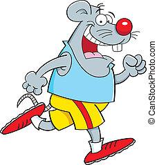 Cartoon mouse running