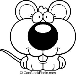 Cartoon Mouse Smiling