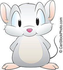 Vector illustration of a cute cartoon mouse. Grouped and layered for easy editing