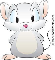 Cartoon Mouse - Vector illustration of a cute cartoon mouse....