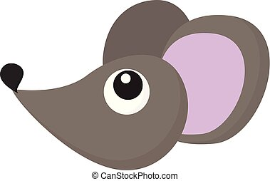 Cartoon mouse vector or color illustration