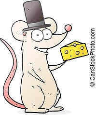 cartoon mouse with cheese