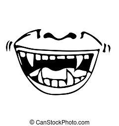 cartoon mouth icon