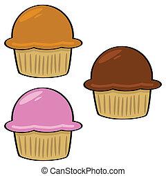 Cartoon muffins 1
