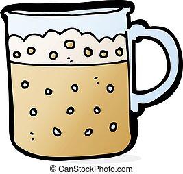 cartoon mug of beer