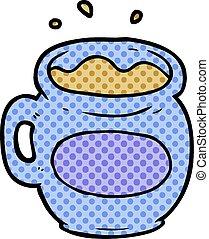 cartoon mug of coffee