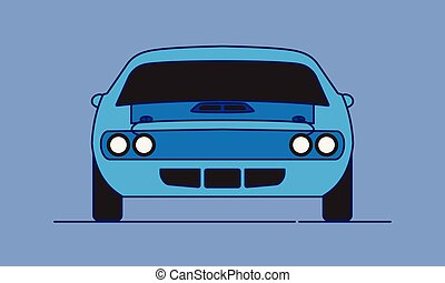 Cartoon Muscle Car