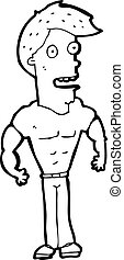 cartoon muscle man