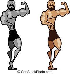 Cartoon Muscleman