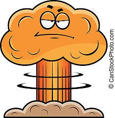Cartoon Mushroom Cloud Grumpy