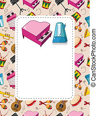 cartoon music card