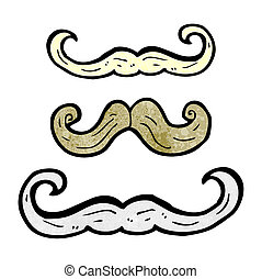 cartoon mustaches
