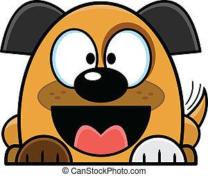 Cartoon Mutt Puppy Wagging Tail