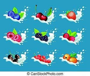 Cartoon Natural Sweet Products Set