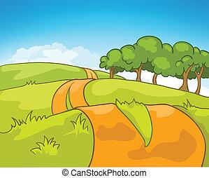 Cartoon Nature Landscape