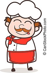Cartoon Naughty Chef Blushing and Smiling Face