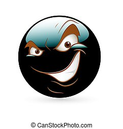 Naughty Smile Smiley - Cartoon Naughty Smile Smiley Face...