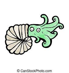 cartoon nautilus squid