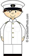 Cartoon Navy Officer