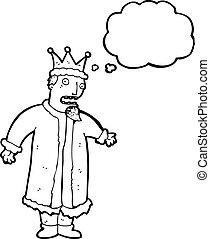 cartoon nervous king
