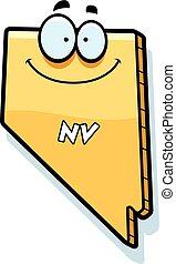 Cartoon Nevada - A cartoon illustration of the state of ...