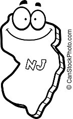 Cartoon New Jersey - A cartoon illustration of the state of...