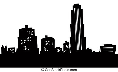 Cartoon New Rochelle Skyline