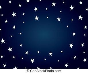 Cartoon night star background