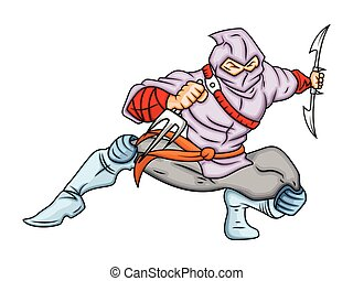 Cartoon Ninja in Action