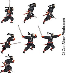 Cartoon Ninja Sprite - Ninja Jumping Game Sprite