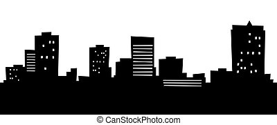 Cartoon skyline silhouette of the city of Norfolk, Virginia, USA.