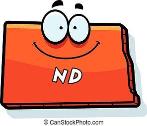 Cartoon North Dakota - A cartoon illustration of the state ...