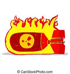 cartoon nuclear bomb