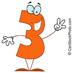 cartoon, numbers-3